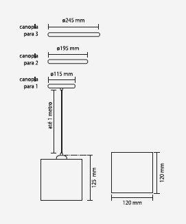 PENDENTE URBAN PARA 1 LÂMPADA PD 30564-1 - KIN