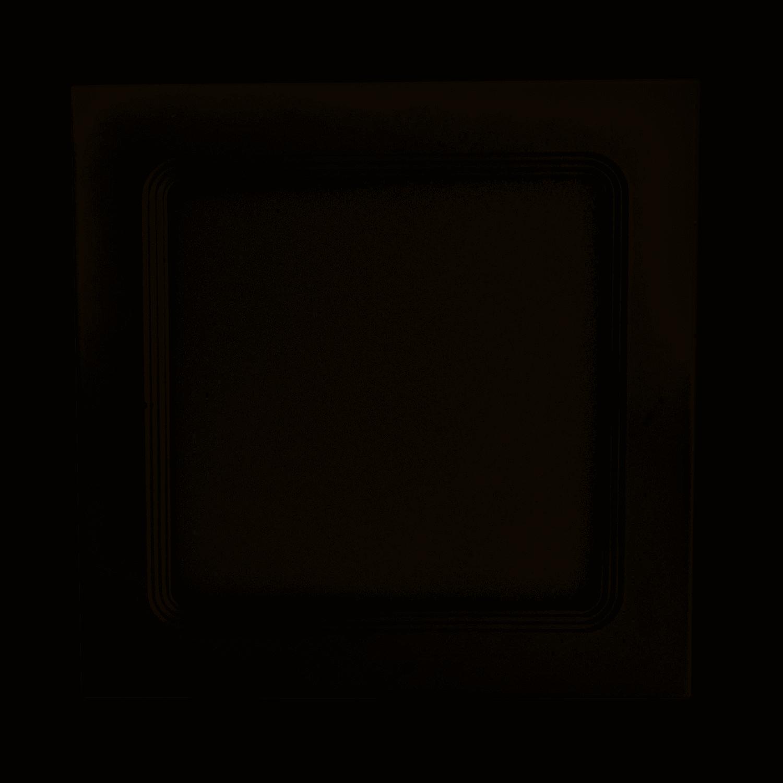 PLAFON DE EMBUTIR SLIM LED QUADRADO 18W 3000K LUZ AMARELA - BRONZEARTE