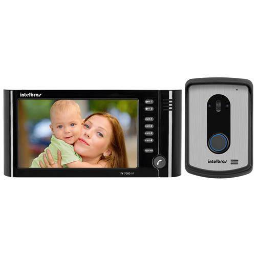 VIDEO PORTEIRO IV 7010 HF PRETO 45200225 - INTELBRAS