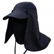 Boné EchoLife Legionário c/ Máscara Proteção UV - Azul Marinho