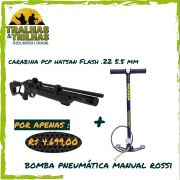 Carabina Hatsan Flash PCP .22 5.5 mm + Bomba Rossi