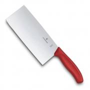 Cutelo do Chef VIctorInox tipo Chinês 18cm 6.8561.18G - Vermelho
