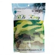 Esfera Plástica BB King 5000 Unidades - 20g - 6mm - Branca