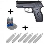 Kit Pistola Rossi C11 4,5mm + 600 Esferas + 6 Cápsulas CO2
