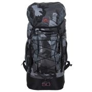 Mochila Trilhas & Rumos - Caminhada 50 - Preto com camuflado escuro