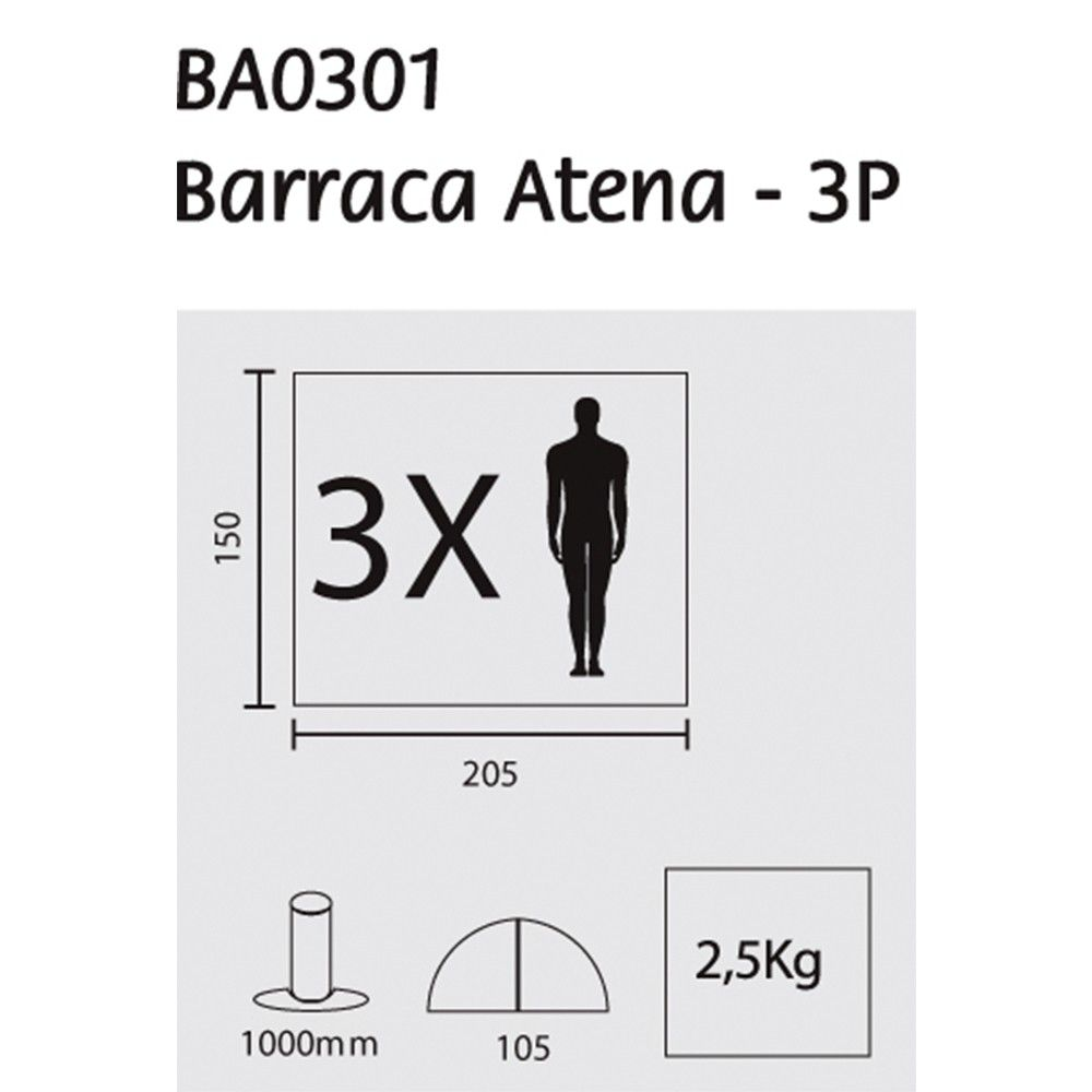 Barraca Guepardo Atena 3 P
