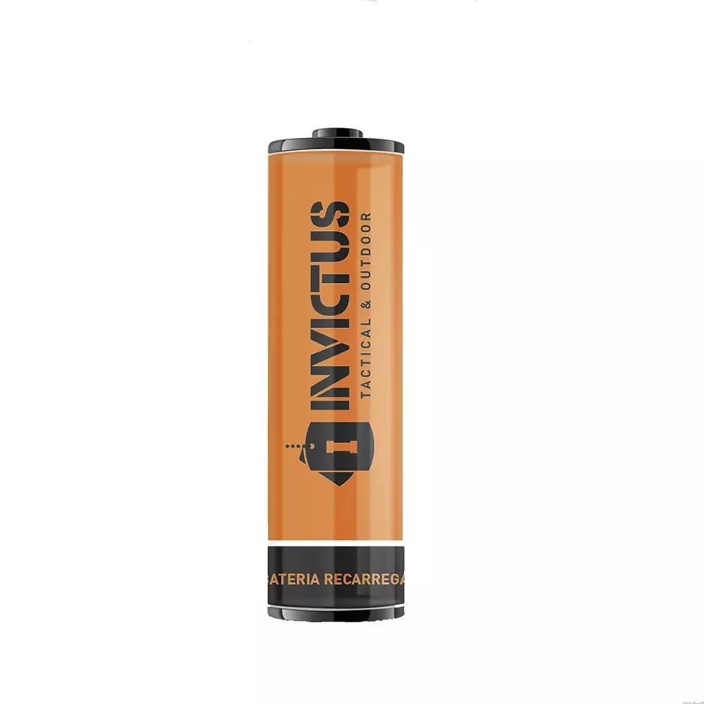 Bateria Recarregável Invictus 14500 Kit C/ 2 Unidades