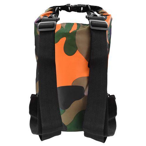 Bolsa Impermeável Albatroz Camp Bag Camuflada Laranja 10 Litros