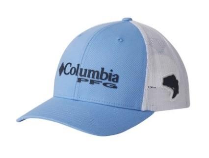 Boné Columbia PFG Snap Back Azul Claro Proteção UV
