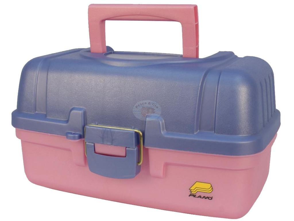 Caixa De Pesca Plano 620292 C/ 2 Bandejas - Rosa
