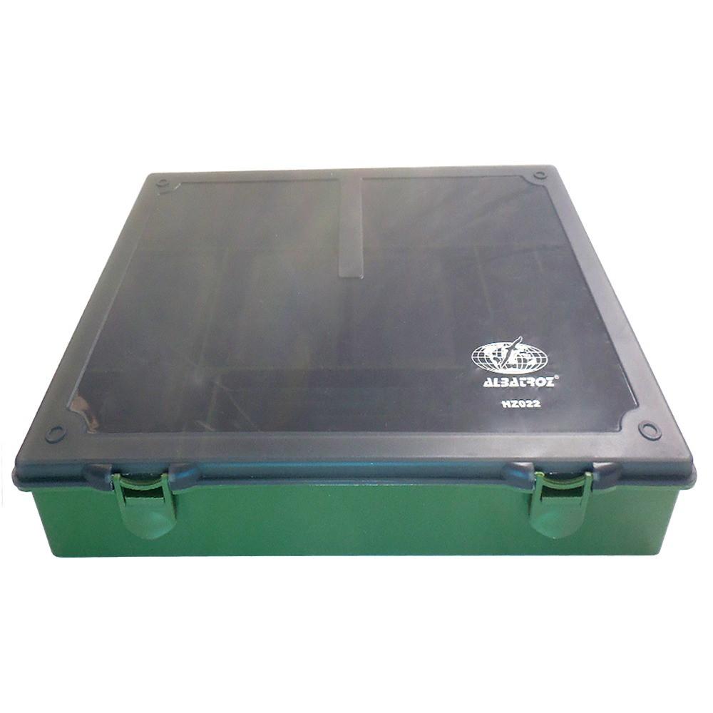 Caixa Plástica Organizadora Albatroz Fishing Verde Musgo HZ022