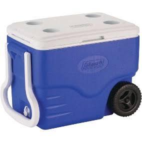Caixa Térmica Cooler Coleman 40QT 38L Com Rodas Azul