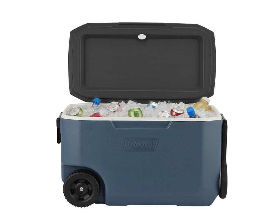 Caixa Térmica Cooler Coleman Xtreme 5 58L - Azul C/ Rodas