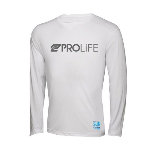 Camisa ProLife Masculina Proteção Solar - Branca
