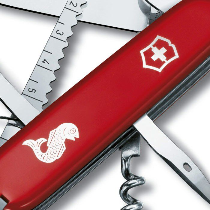 Canivete Suíço Angler Red 1.3653.72