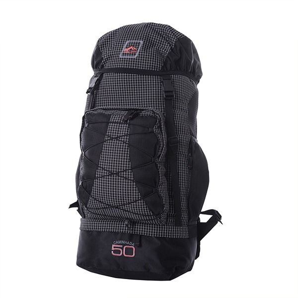 Mochila Trilhas & Rumos - Caminhada 50 - Quadriculado com preto
