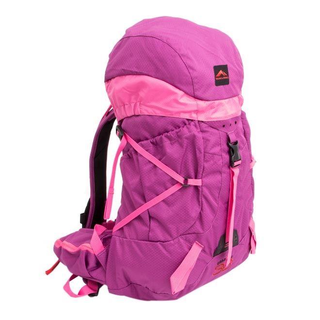 Mochila Trilhas & Rumos - Crampon 36 - Lilás com rosa
