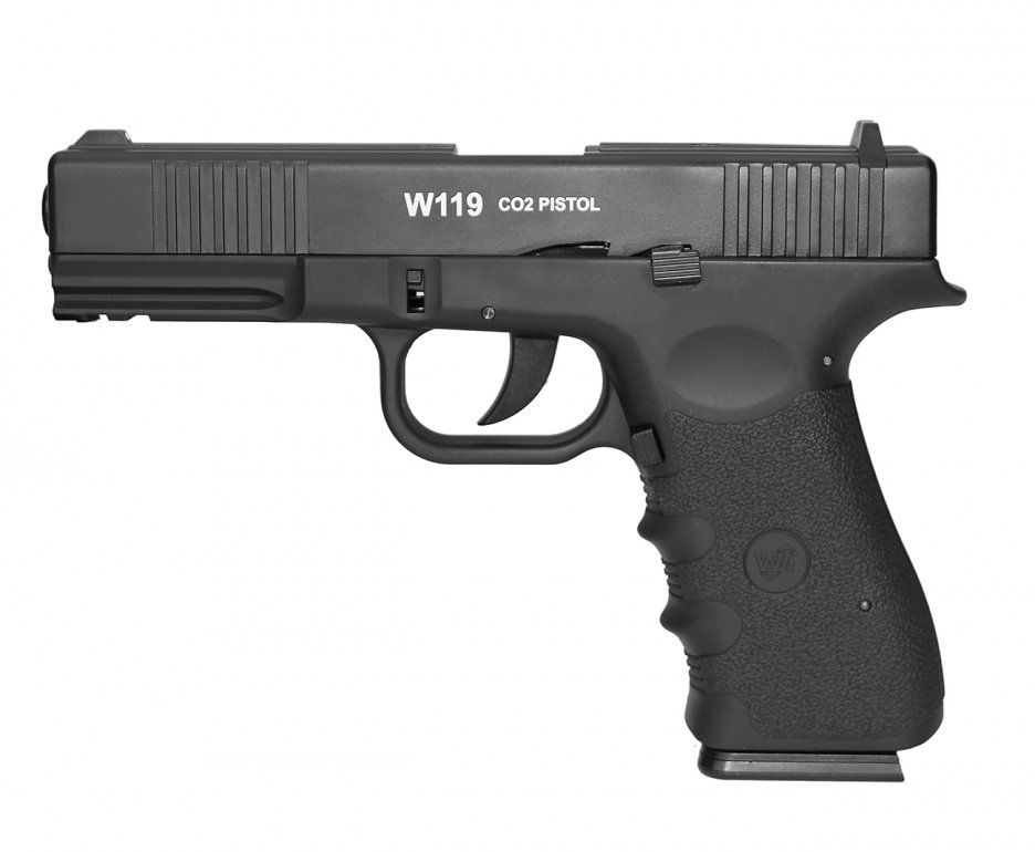 Pistola de Pressão Co2 Wingun W119 Slide Metal BlowBack - 4.5mm