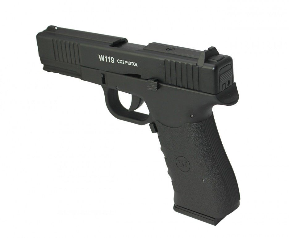 Pistola de Pressão Co2 Wingun W119 Slide Metal BlowBack - 4.5mm