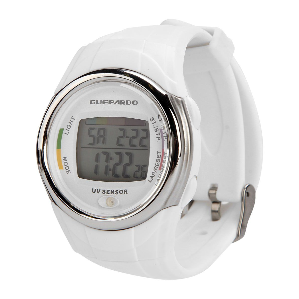 Relógio Guepardo UV Master Branco