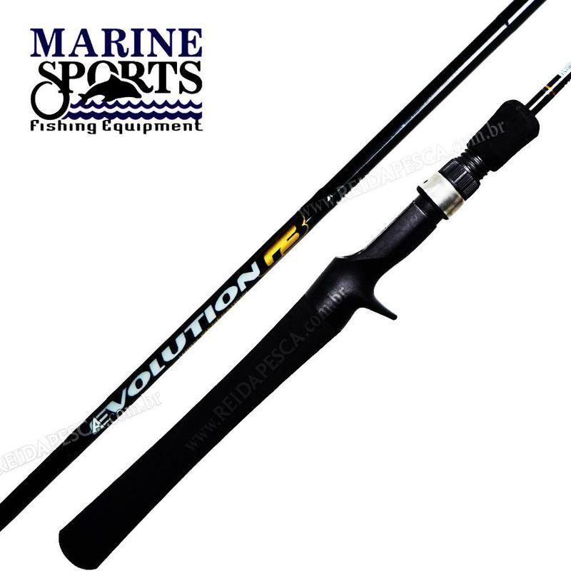 Vara de pesca Marine Sports - Evolution G3 -  Carbono - Carretilha