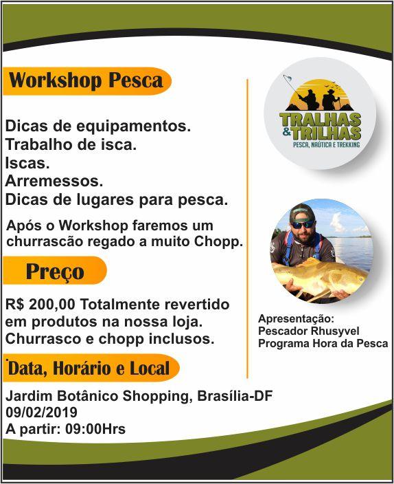Workshop de Pesca Tralhas e Trilhas