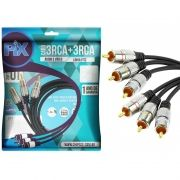 Cabo 3 RCA para 3 RCA Chip Sce para Áudio e Vídeo