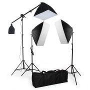 Kit de Iluminação Greika PK-SB03 para Estúdio Fotográfico