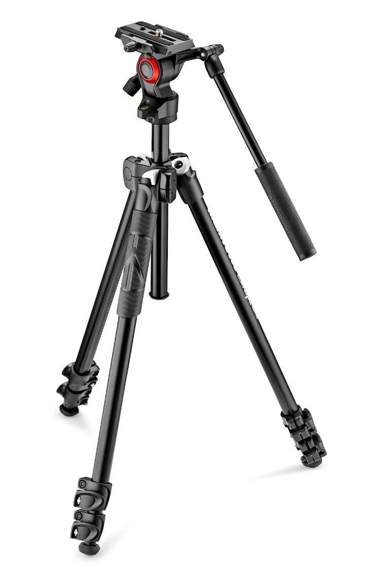 Tripé Manfrotto MK290LTA3-V 146cm Alumínio para Câmeras e Filmadoras