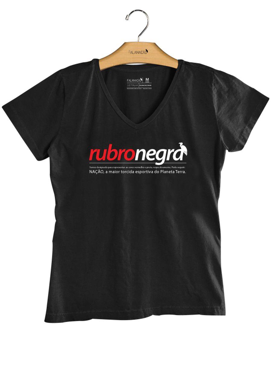 T-Shirt Feminina Rubro-Negra - Preta