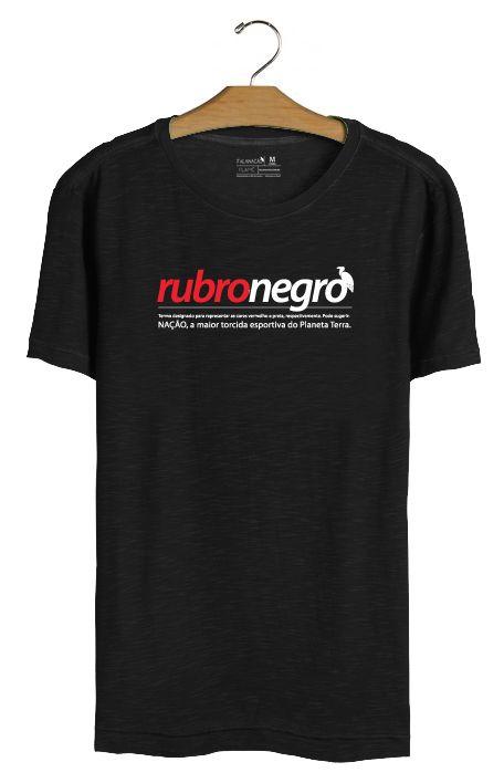 T•Shirt Rubro-Negro - Preta