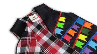 Colete Jeans - Dupla Face - Vermelho