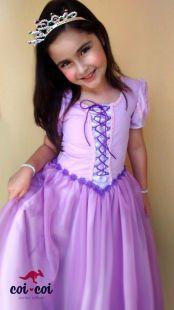 Fantasia Vestido Princesa Rapunzel