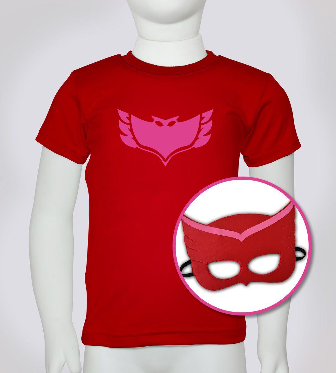 Corujinha - Camiseta + máscara