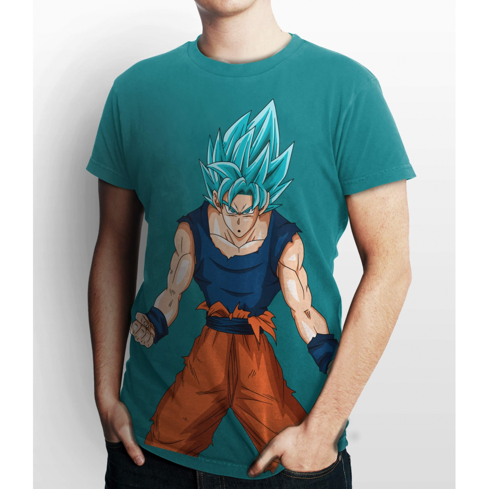 Camiseta Dragon Ball Goku Super Sayajin Azul