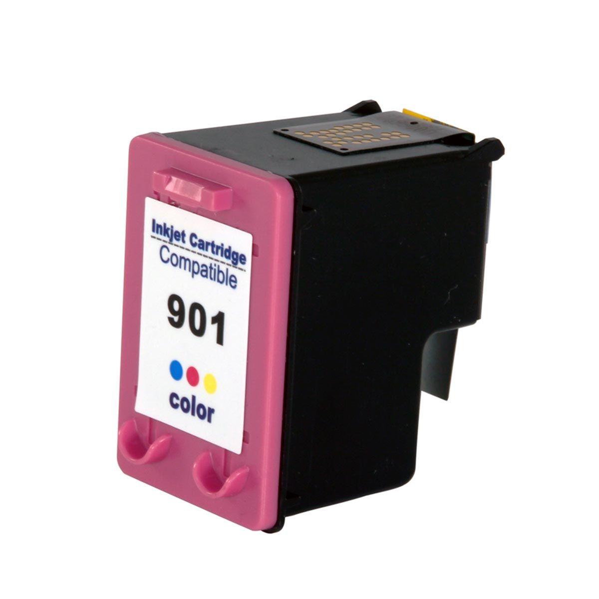 CARTUCHO DE TINTA (CC656AB) HP 901 XL  OFFICEJET J4580 J4680 J4660 J4500 J4550 COLORIDO COMPATÍVEL
