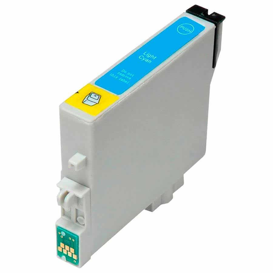 CARTUCHO EPSON  T082520 T082 T0825 - R270/ R390/R290/RX590/T50 CYAN LIGHT (COMPATÍVEL)