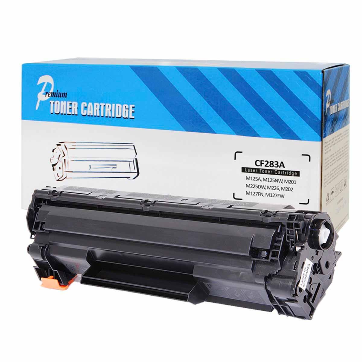 CARTUCHO HP (CF283A/83A) M127FN/M127FW/M127/M125/M201/M225/M226/M202/M201DW COMPATÍVEL