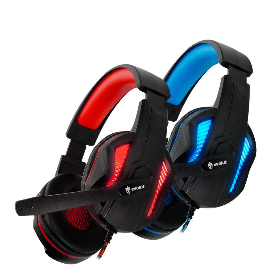 HEADFONE GAMER EVOLUT TOTH MIC LED USB P2C/FIO NYLON STEREO EXTRA BASS