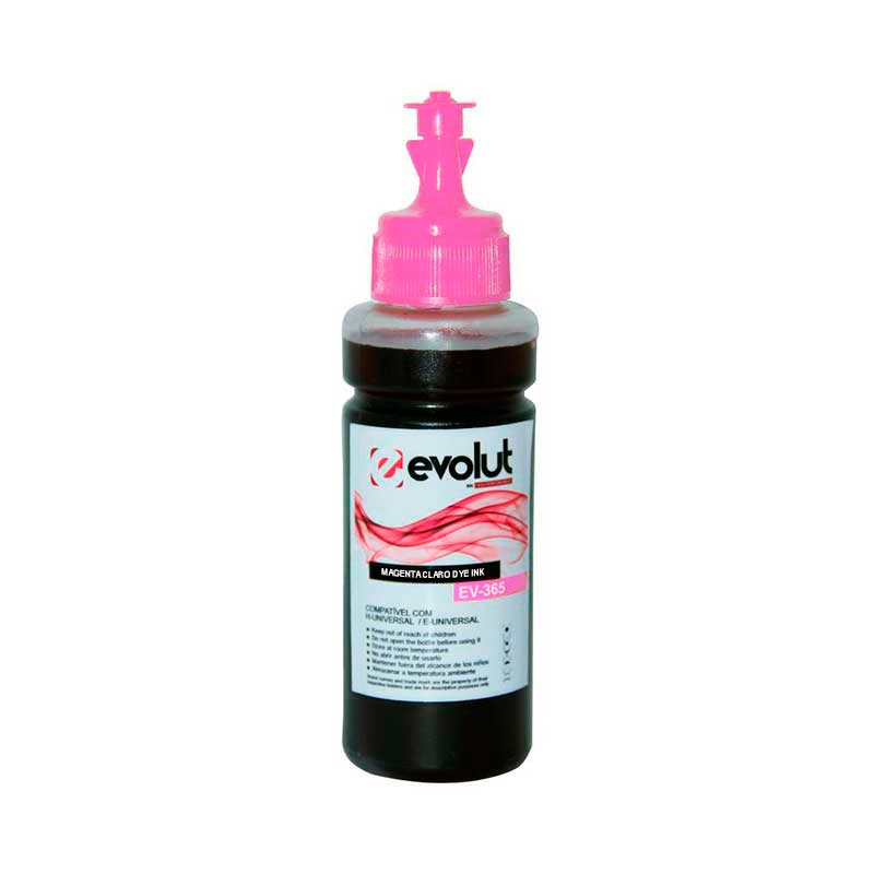 TINTA EPSON EVOLUT BULK INK MAGENTA LIGHT L355/L365/L375/L555/L200/L455/L800 (100ML)