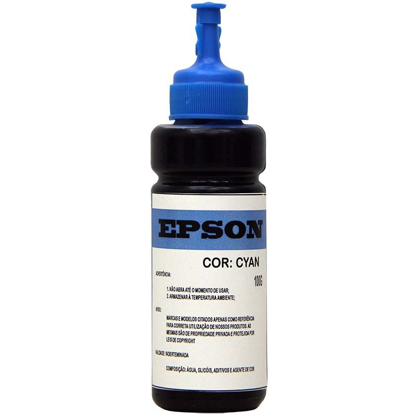 TINTA EPSON KORA BULK INK CIANO L355/L365/L375/L555/L200/L455/L800 (100ML)