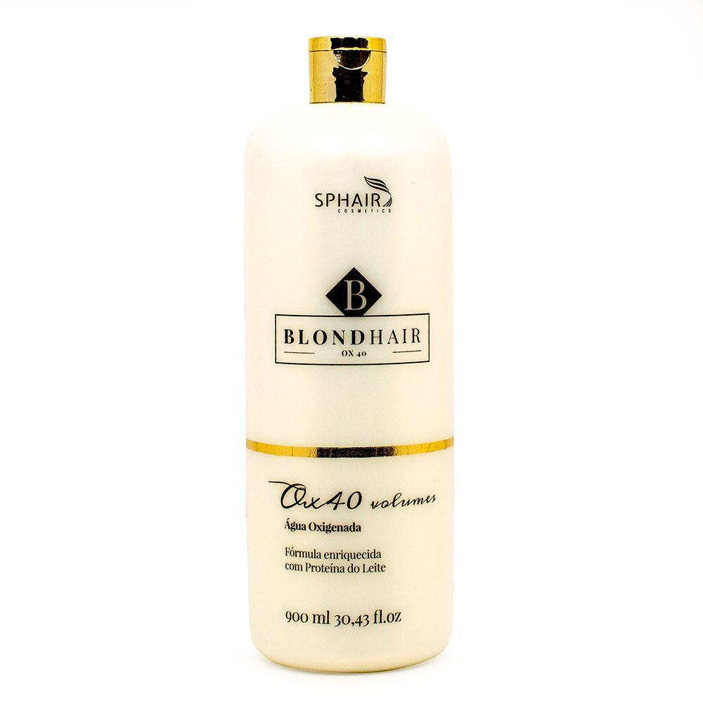 <b>Água Oxigenada 40 volumes BlondHair</b>: Com fórmula estabilizadora e suavemente perfumado, descolore sem prejudicar o fio - 900ml