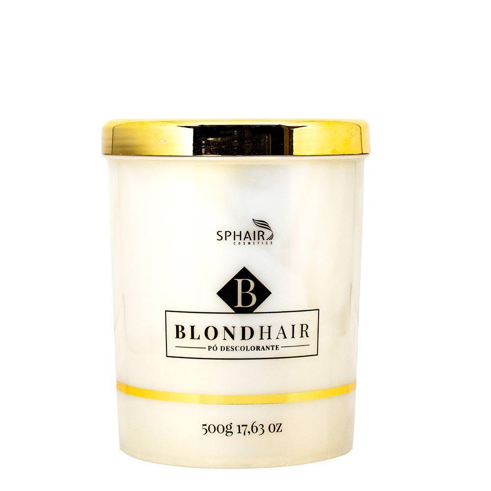 <b>Pó Descolorante BlondHair</b>: Dust Free (não levanta pó), clareamento rápido, abre até 9 tons, embalagem interna em saches individuais e possui ativo Plex - Protetor de descoloração - 500g
