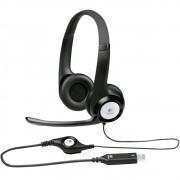 Headset Logitech H390 Usb Em Couro Com Controle De Volume