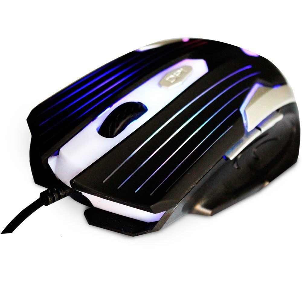 Mouse Optico Gamer Usb Mg-11bsi Preto Prata C3tech