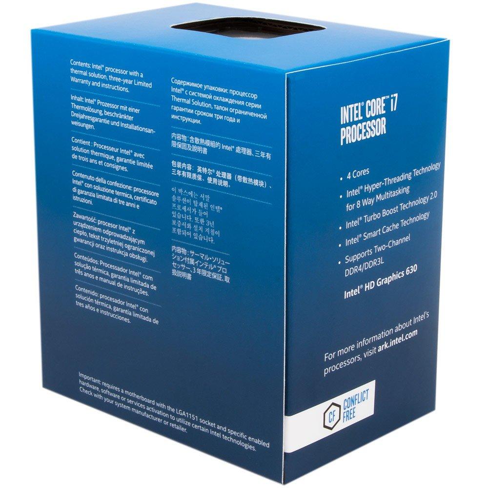 Processador Intel Core i7-7700K Kaby Lake 7a Geração, Cache 8MB 4.2GHz (4.5GHz Max Turbo), LGA 1151 Intel HD Graphics 630 BX80677I77700K