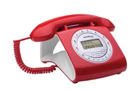 Telefone Com Fio Intelbras Retrô Tc8312 Com Viva Voz Identi