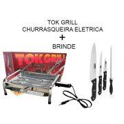 Churrasqueira Elétrica Inox 110 Ou 220v + Brindes
