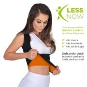 Cinta Emagrecedora Queima Gordura Less Now T-shirt  Laranja com Preto