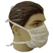 Mascara Cirúrgica Desc.c/tiras Branca Caixa 50 unidades